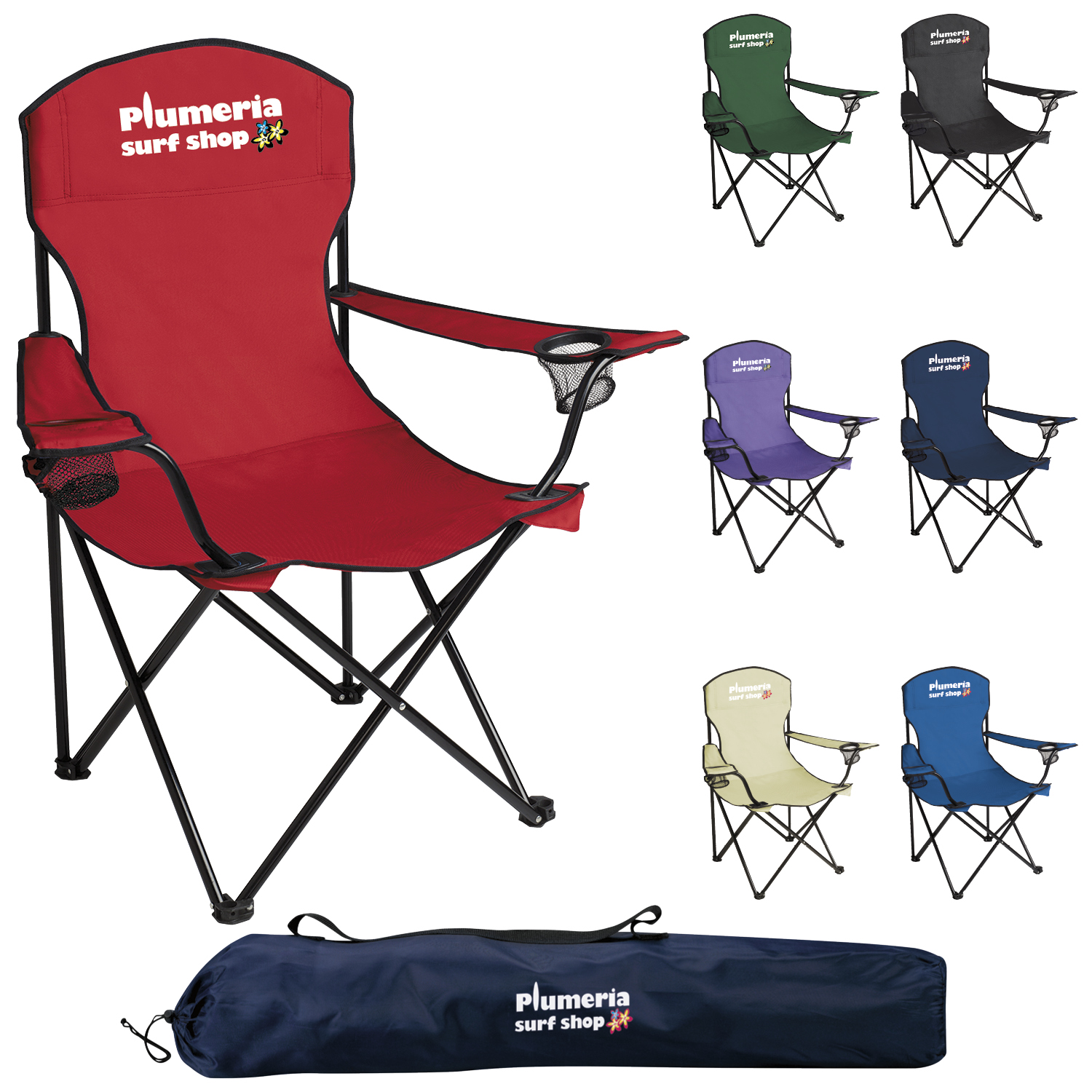 GoodValue Captain's Chair, #45009, 1 Colour Imprint
