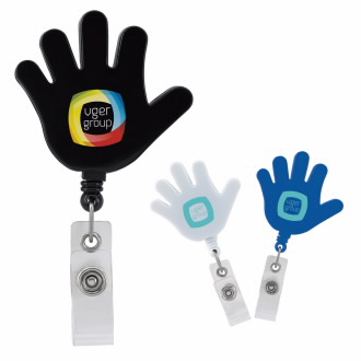 Hi Five Badge Holder - 1 Colour Imprint
