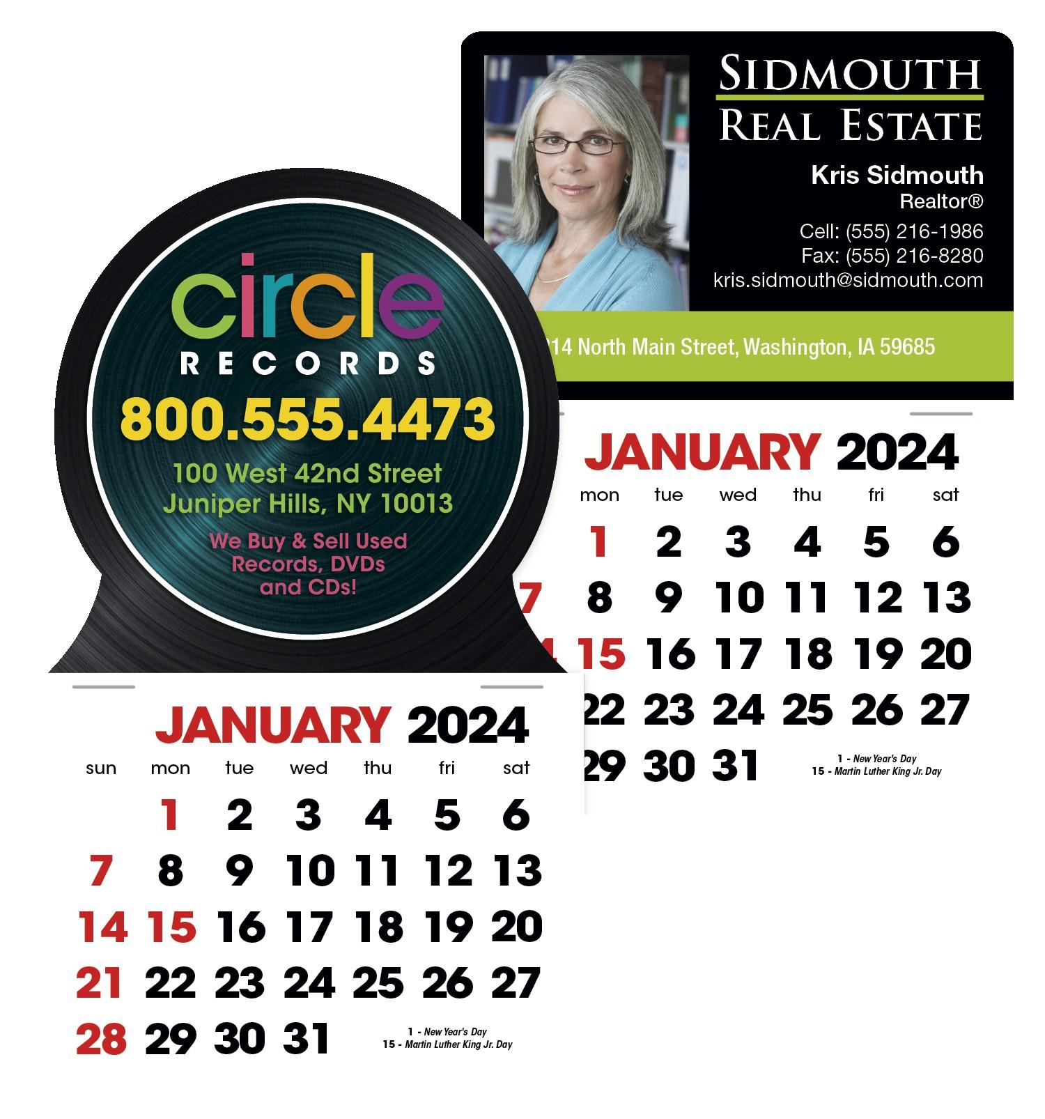 Triumph Stick Up Calendar w/ English Grid, #5333, Full Colour Imprint