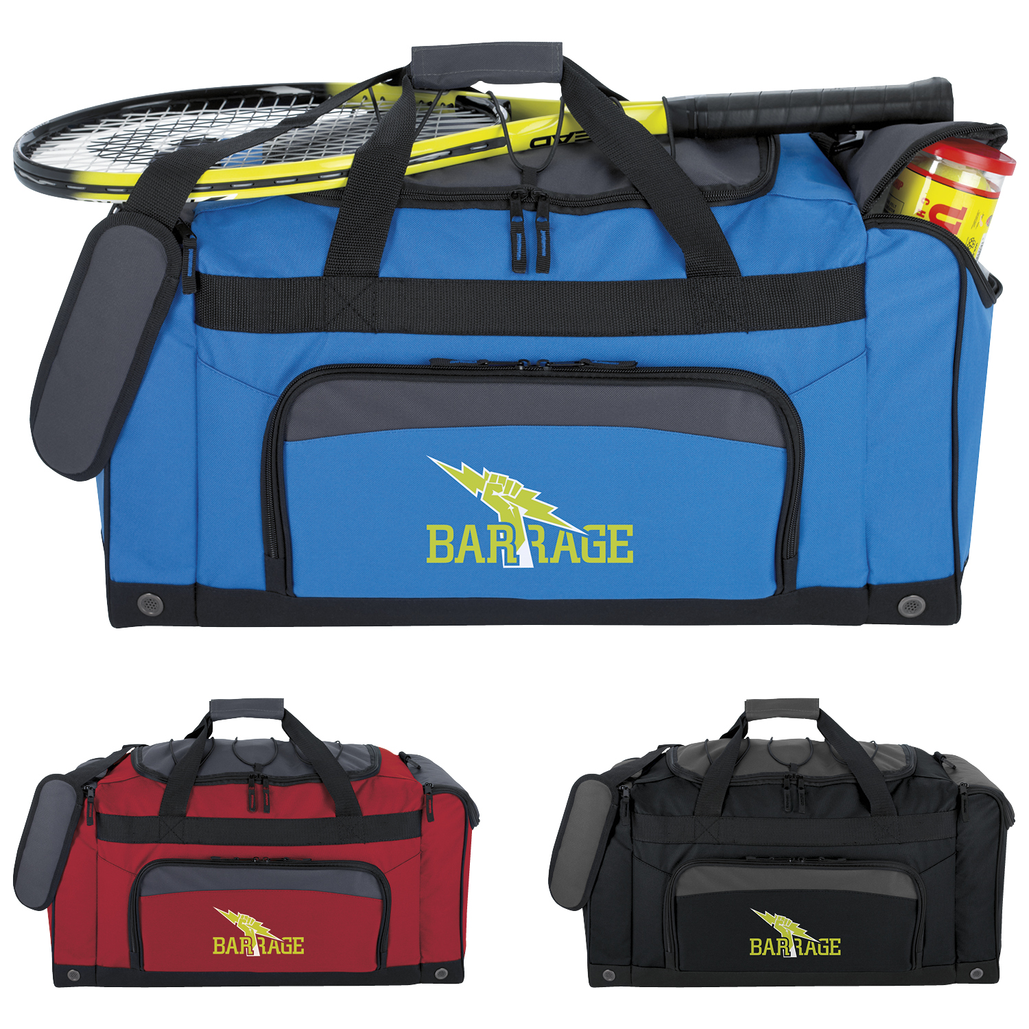 Bungee Top Duffel Bag - 1 Colour Imprint, #15812