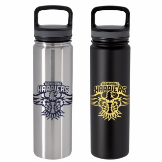 24 Oz. Vacuum Insulated Bottle w/ Carabiner Lid - 1 Colour Imprint