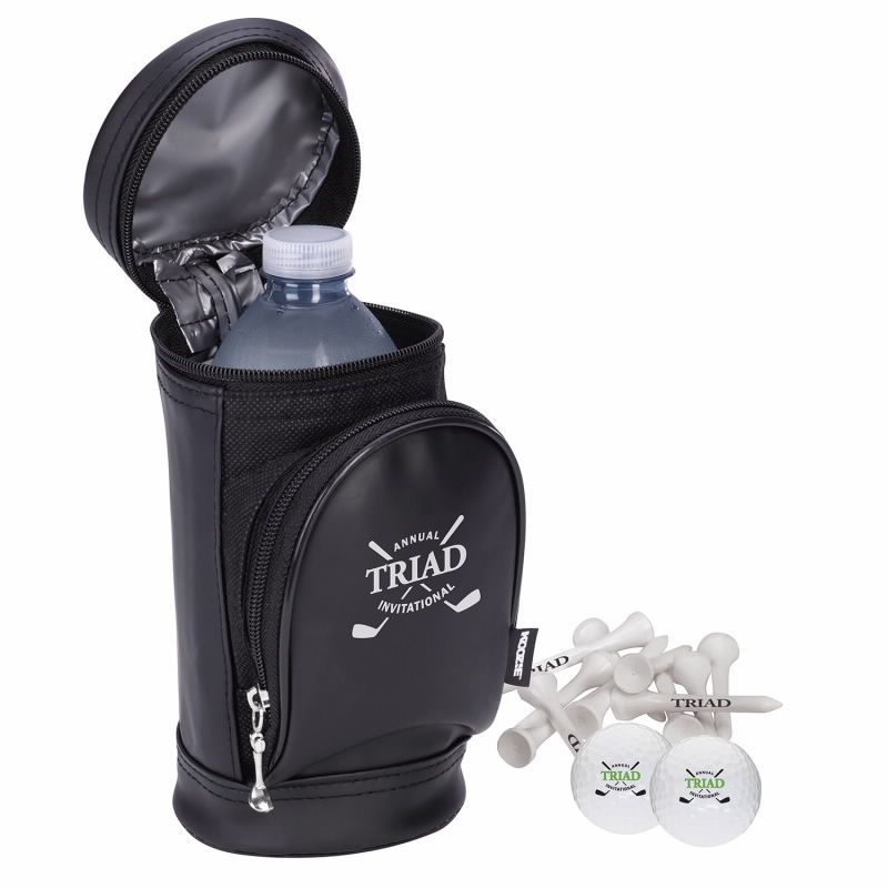 Koozie Golf Bag Kooler Kit w/Titleist DT TruSoft Golf Balls, #62432, 1 Colour Imprint