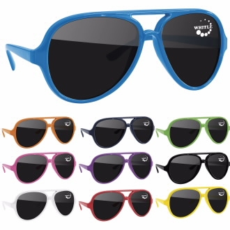 Plastic Aviator Sunglasses, #26109, 1 Colour Imprint