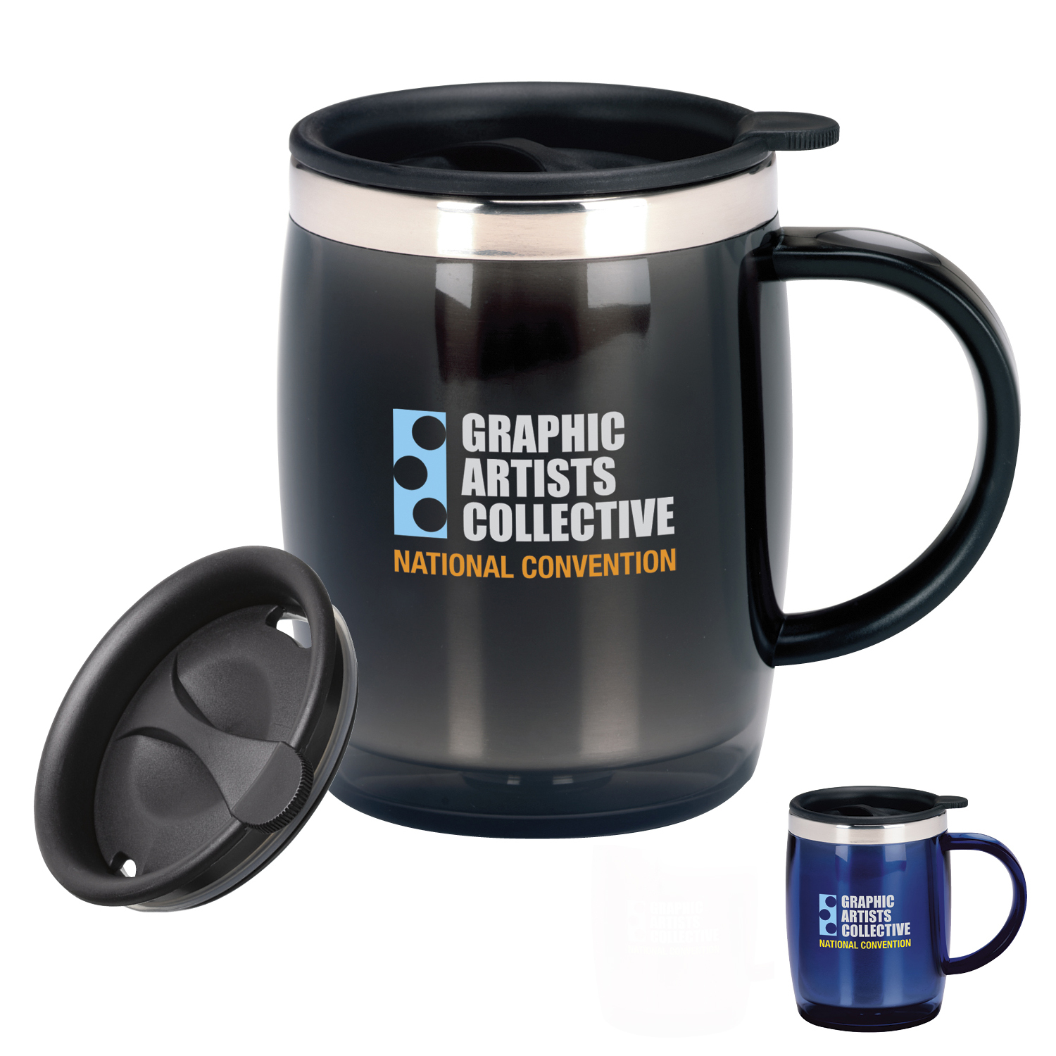 16 Oz. Desk Jockey Mug - 1 Colour Imprint