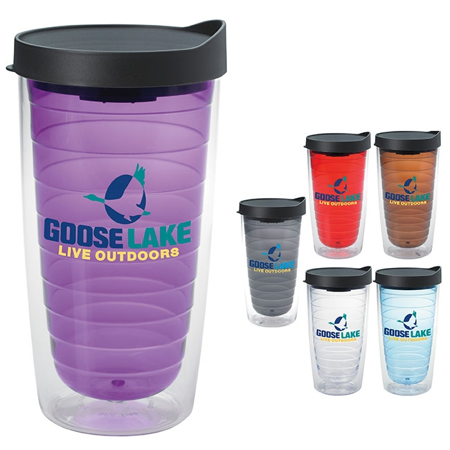 16 Oz. Color Splash Tumbler - 1 Colour Imprint