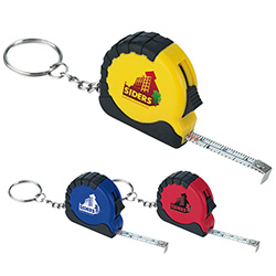 Mini Tape Measure Keychain - 1 Colour Imprint