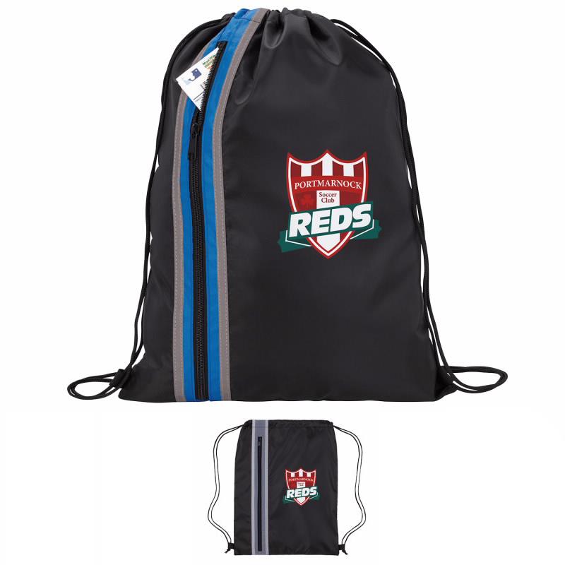 GoodValue Vertical Zippered Drawstring Backpack, #15850, 1 Colour Imprint
