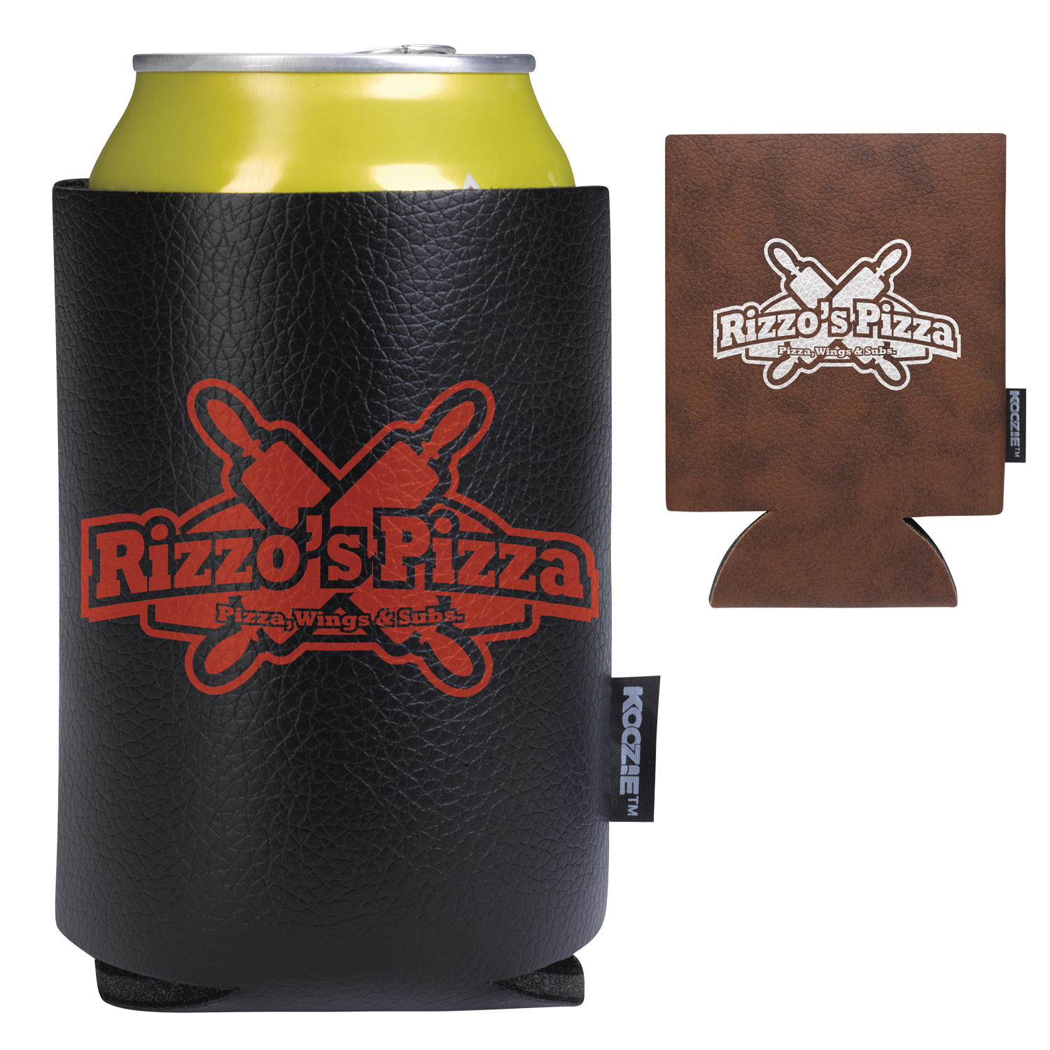 Koozie Leather Like Can Kooler, #46170, 1 Colour Imprint