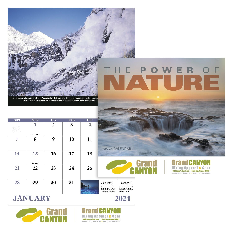 GoodValue The Power of Nature Calendar (Stapled), #7303, 1 Colour Imprint