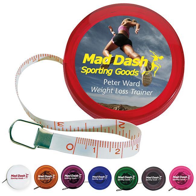 5' Mini Round Tape Measure - 1 Colour Imprint
