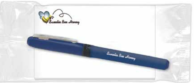 BIC Combo Pack w/ Grip Roller Pen & 25 Sheet Sticky 5