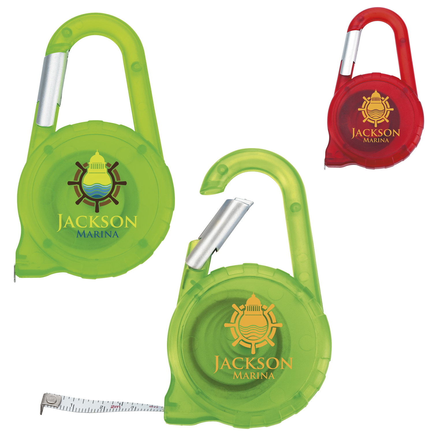 Tape Measure Carabiner - 1 Colour Imprint