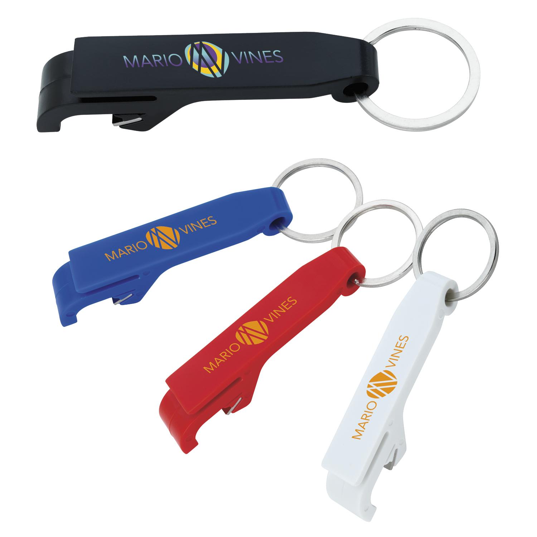 GoodValue Plastic Bottle Opener Keychain, #21084, 1 Colour Imprint