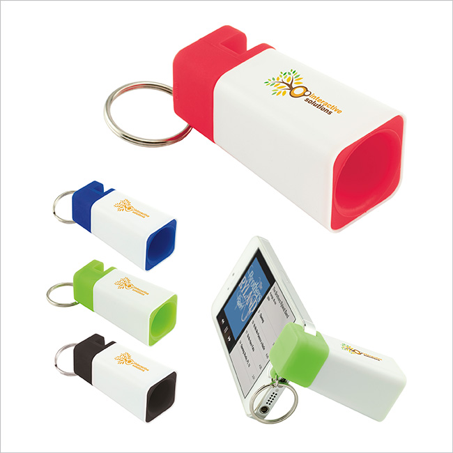 Phone Amplifier Keychain - 1 Colour Imprint