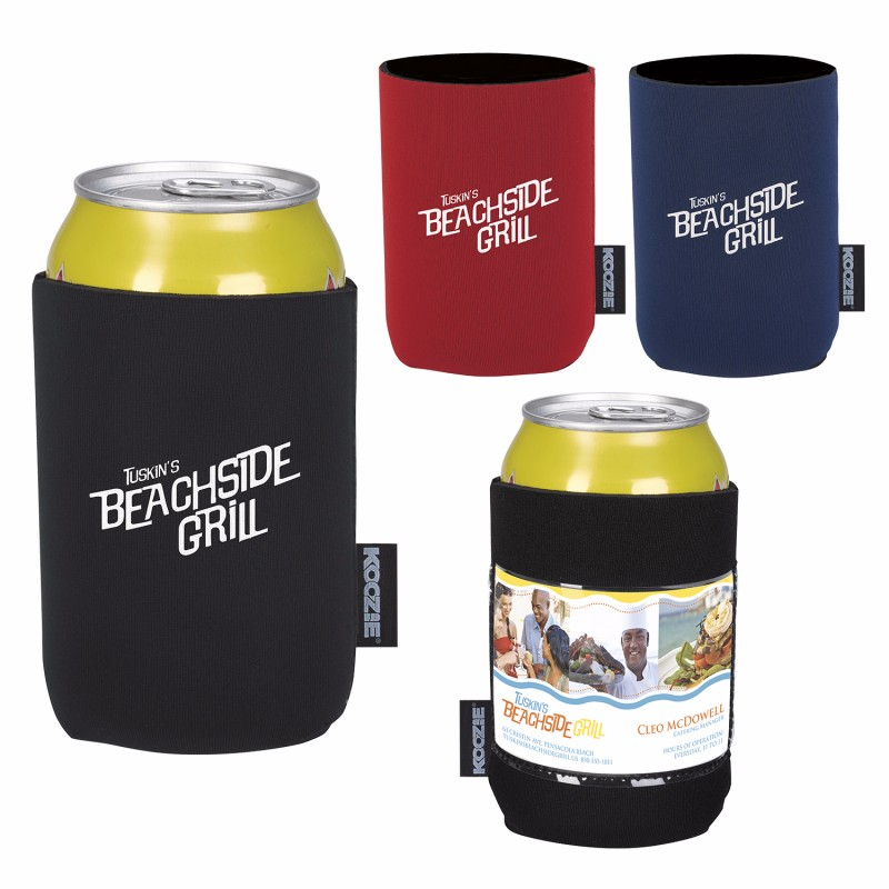 Koozie Business Card Can Kooler - 1 Colour Imprint, #46096