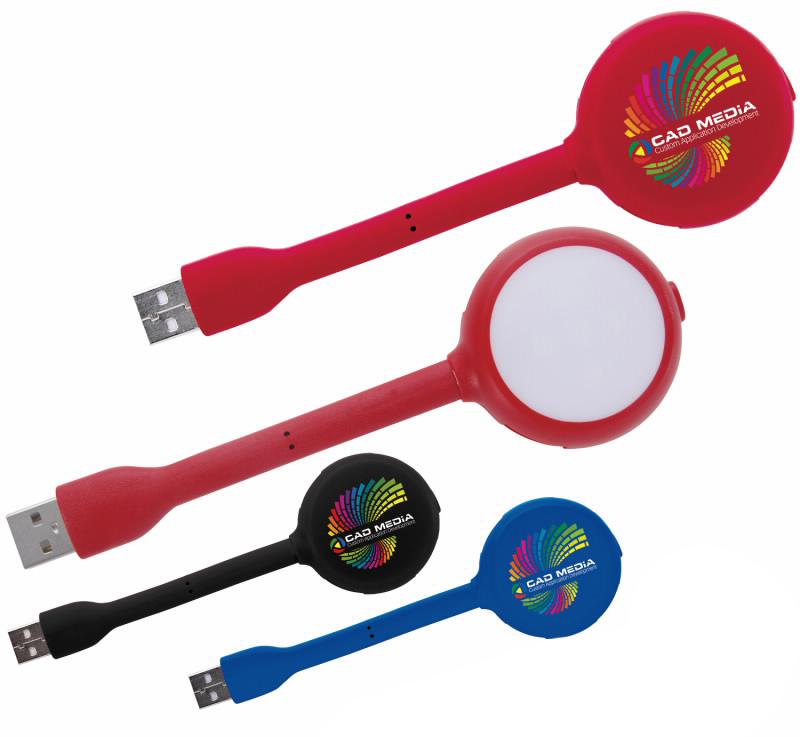 4 Port USB Hub & LED Light - 1 Colour Imprint