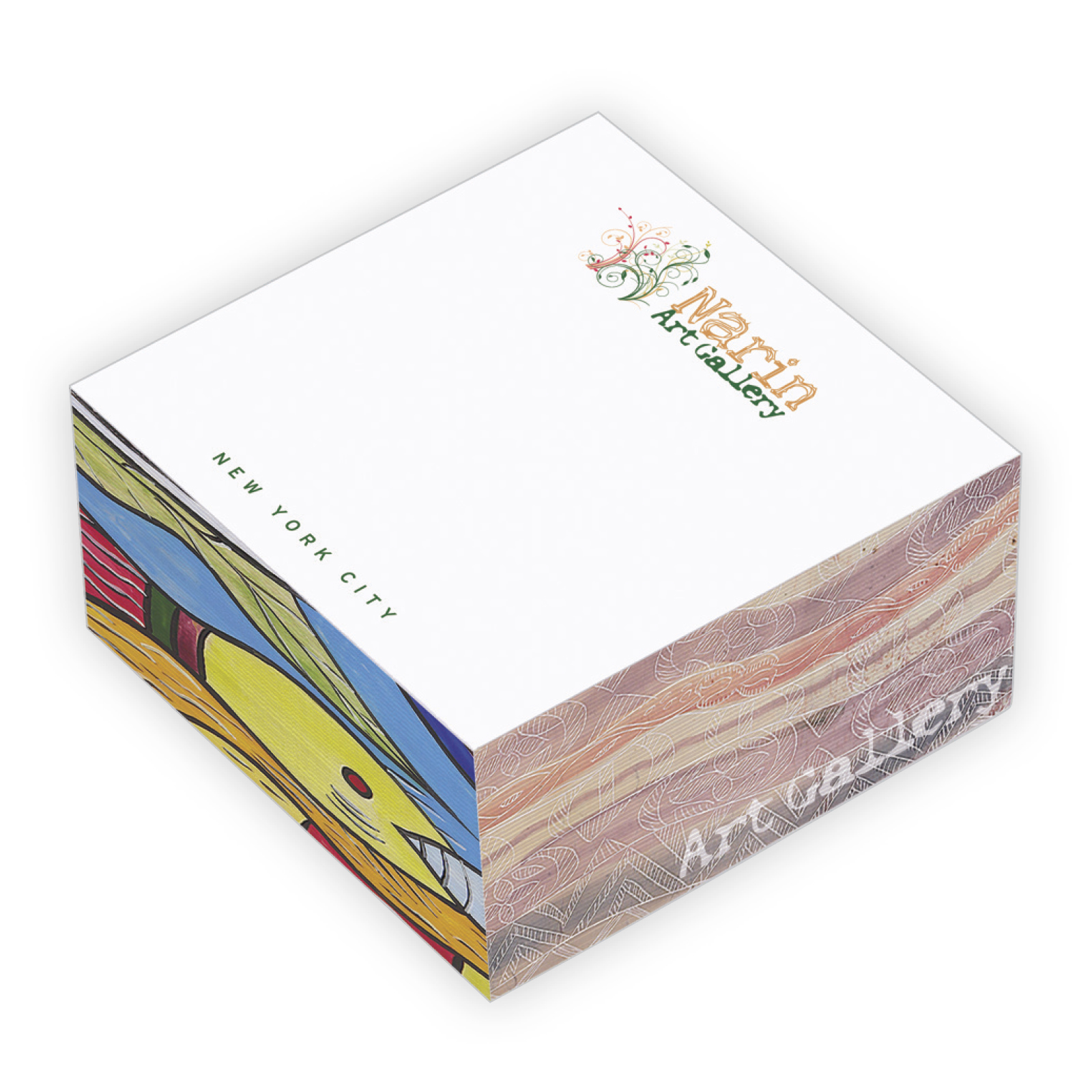 "BIC Non-Adhesive Cube Pads (3""x3""x1 1/2"") - Full Colour Imprint"