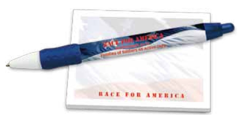 BIC Digital WideBody Color Grip w/ BIC Sticky Note American Patriot Notepad - Full Colour Imprint