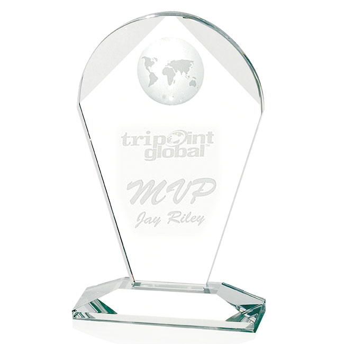 Jaffa Geodesic Large Award - Deep Etch Imprint, #35074