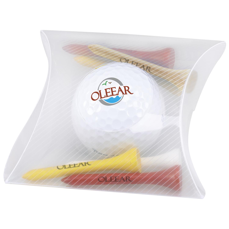 Pillow Pack w/Wilson Ultra 500 Golf Ball, #60962, 1 Colour Imprint
