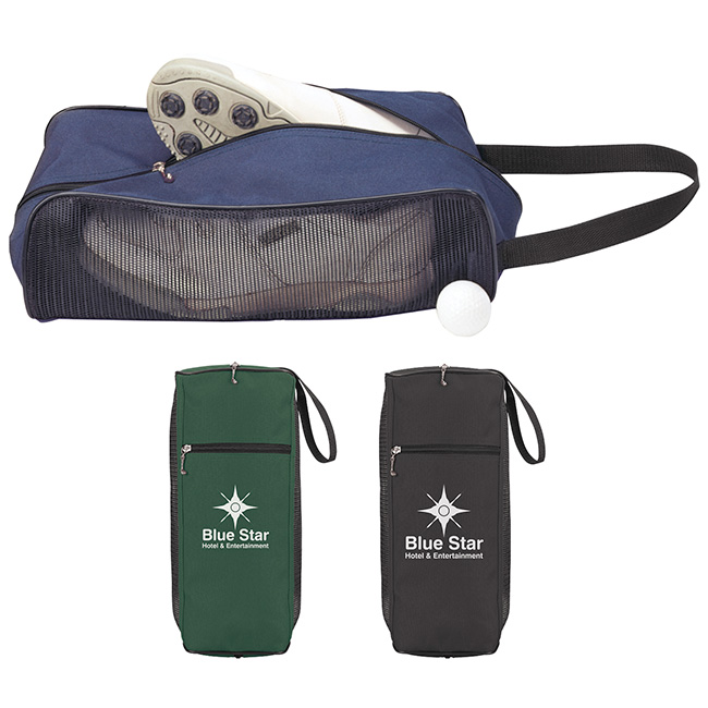 Golf Mesh Shoe Bag - 1 Colour Imprint, #61183