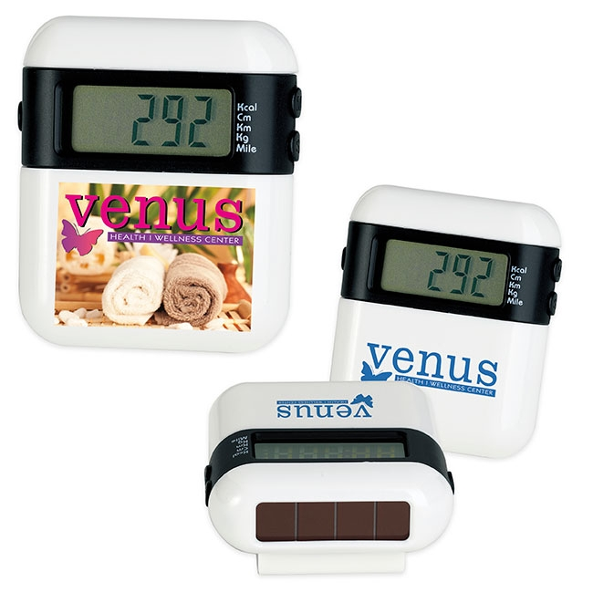 Eco Solar Pedometer - 1 Colour Imprint