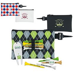 "Pattern Golf Pouch Tee Kit (2 3/4"" Tee) - 1 Colour Imprint"