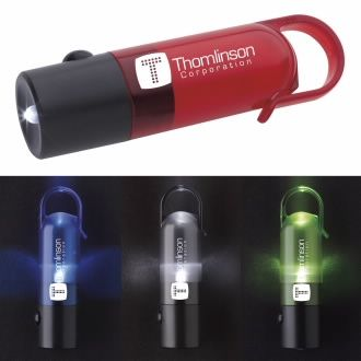 Lustrous Light Flashlight - 1 Colour Imprint