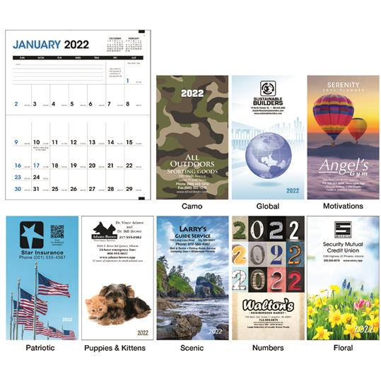 Triumph Colorful Impressions Monthly Pocket Planner, #8002, Full Colour Imprint