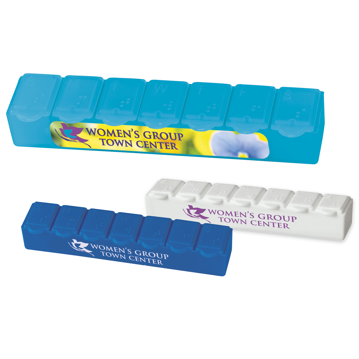 7 Day Strip Pill Box - 1 Colour Imprint