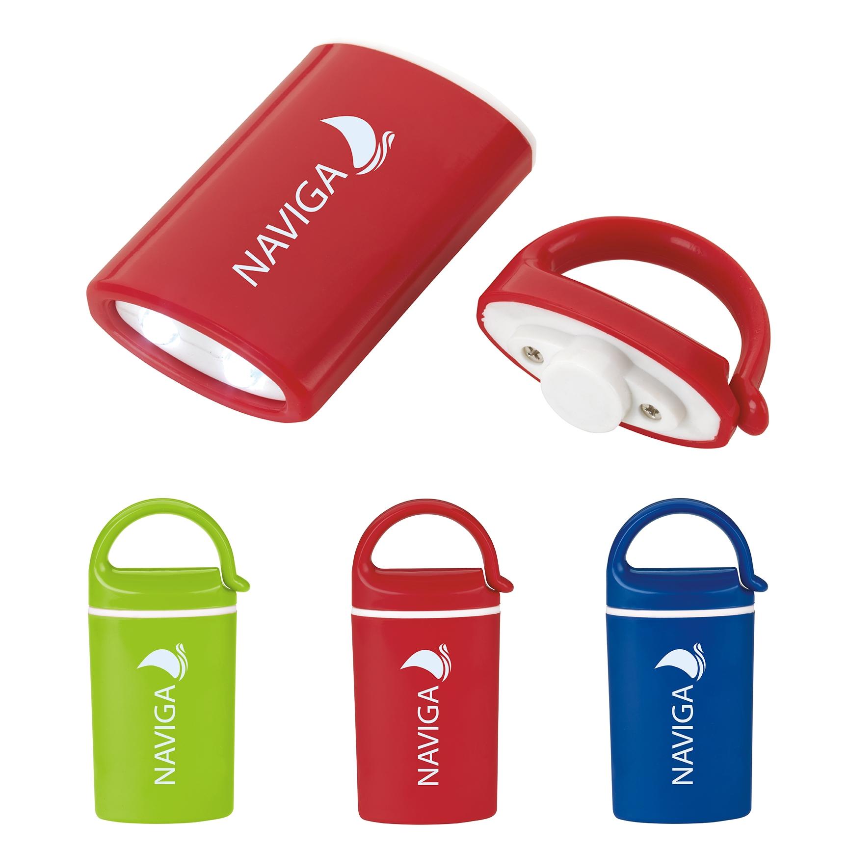 Mini Magnet Flashlight W/ Carabiner - 1 Colour Imprint