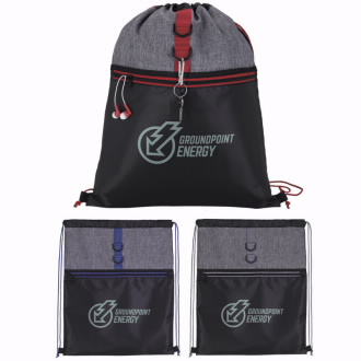 Stand Alone Drawstring Backpack, #15967, 1 Colour Imprint
