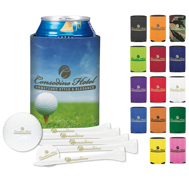 Collapsible Koozie Deluxe Golf Event Kit w/ Titleist DT TruSoft Golf Ball, #61954, 1 Colour Imprint