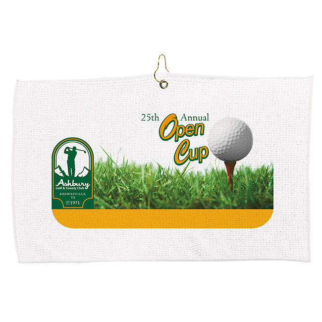Golf Waffle Towel (britePix®) - Full Colour Imprint, #62255