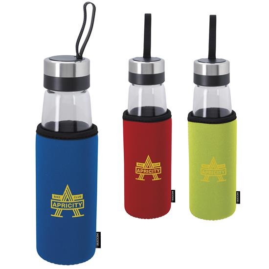 Koozie Glass Bottle w/Koozie Kooler - 1 Colour Imprint, #46135