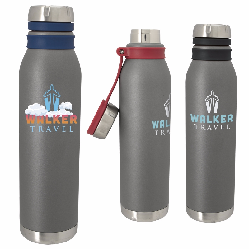 25 Oz. Yazzy Vacuum Sport Bottle, #46273, 1 Colour Imprint