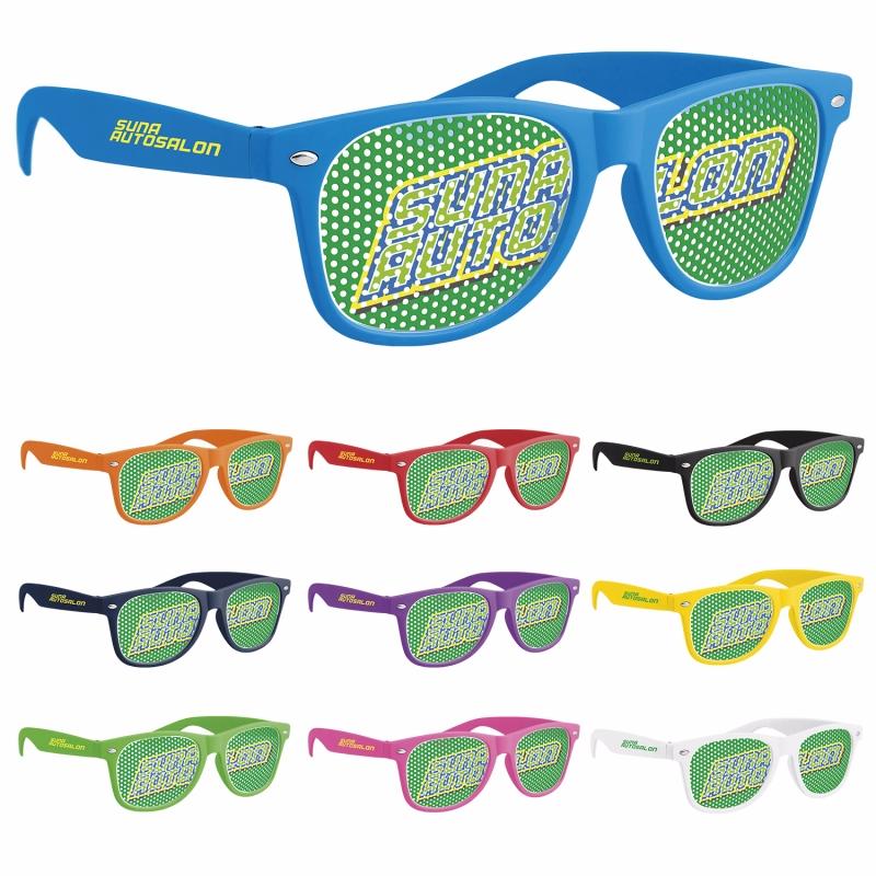 GoodValue Retro Pinhole Sunglasses, #26049, Full Colour Imprint