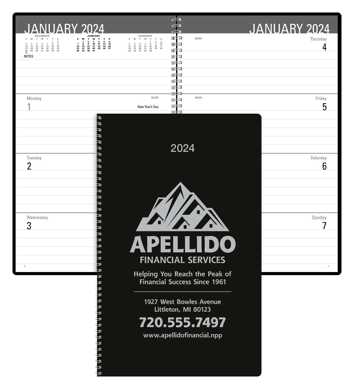 Triumph Classic Weekly Desk Planner, #8103, 1 Colour Imprint