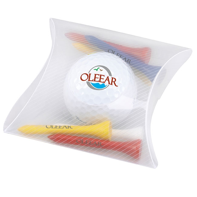 Pillow Pack w/Titleist DT TruSoft Ball, #60073, 1 Colour Imprint