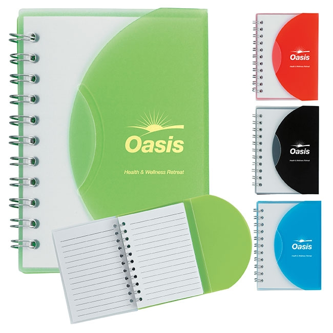 Small Notebook w/ Slip Cover - 1 Colour Imprint