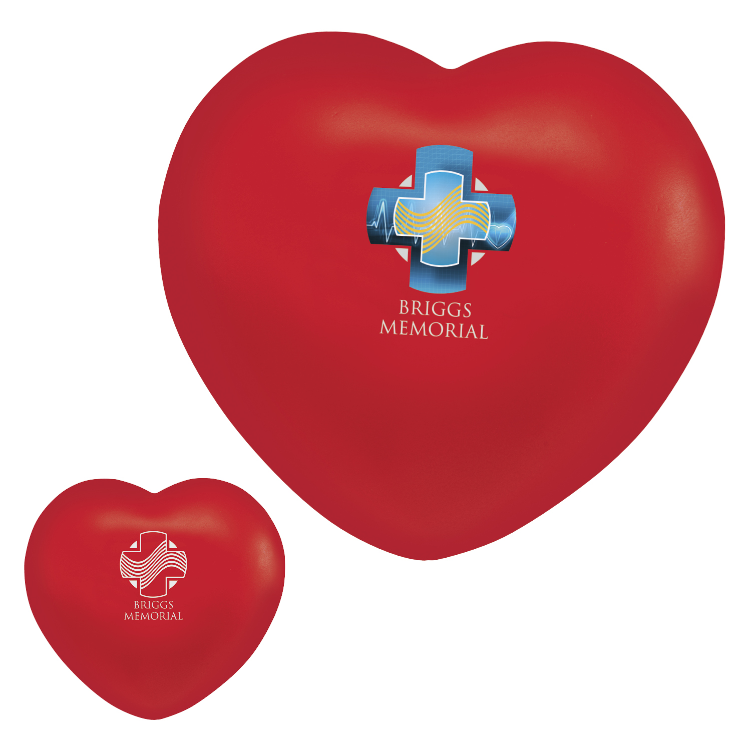 Heart Stress Ball - 1 Colour Imprint, #40259