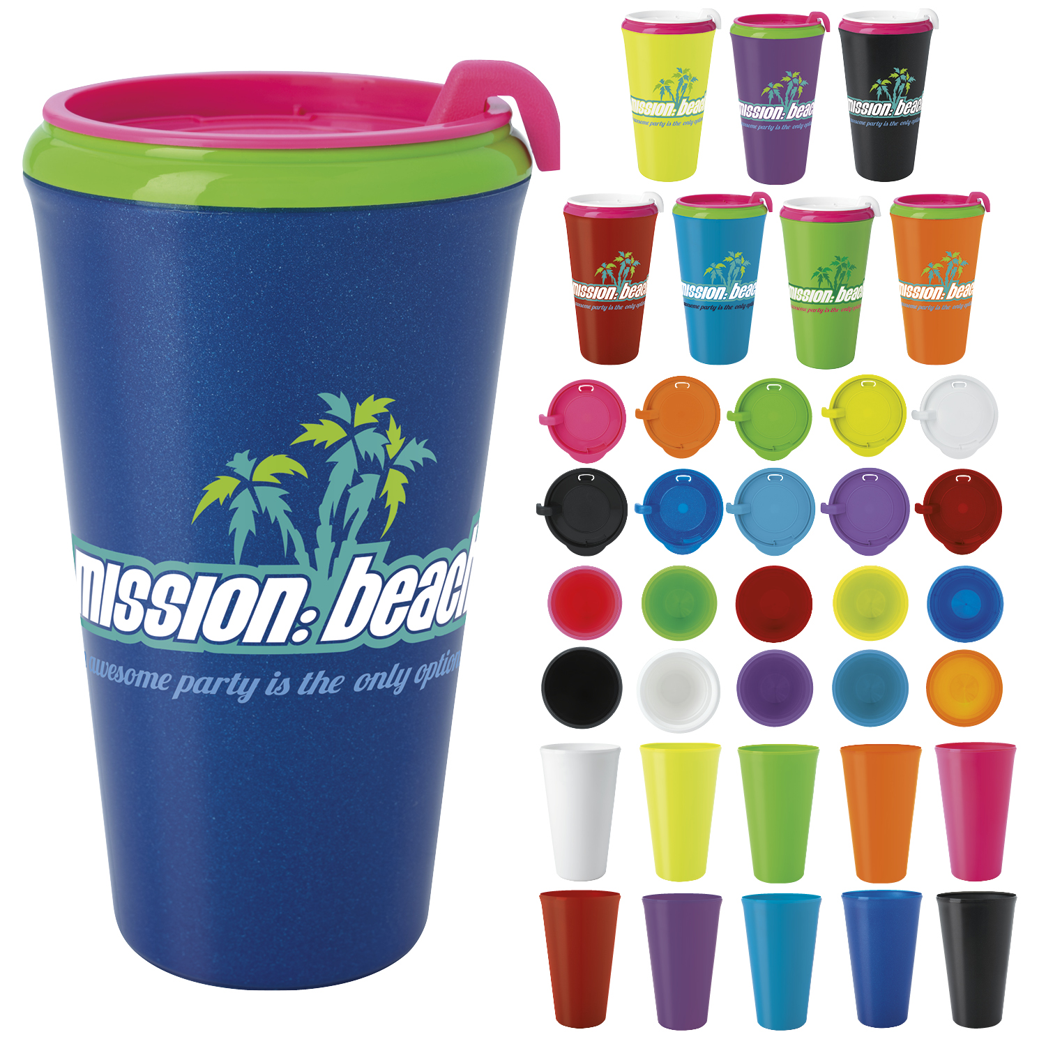 Multi-Color Infinity Tumbler (16 Oz.) - 1 Colour Imprint