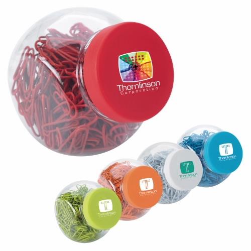 Good Value Paper Clip Candy Jar - 1 Colour Imprint
