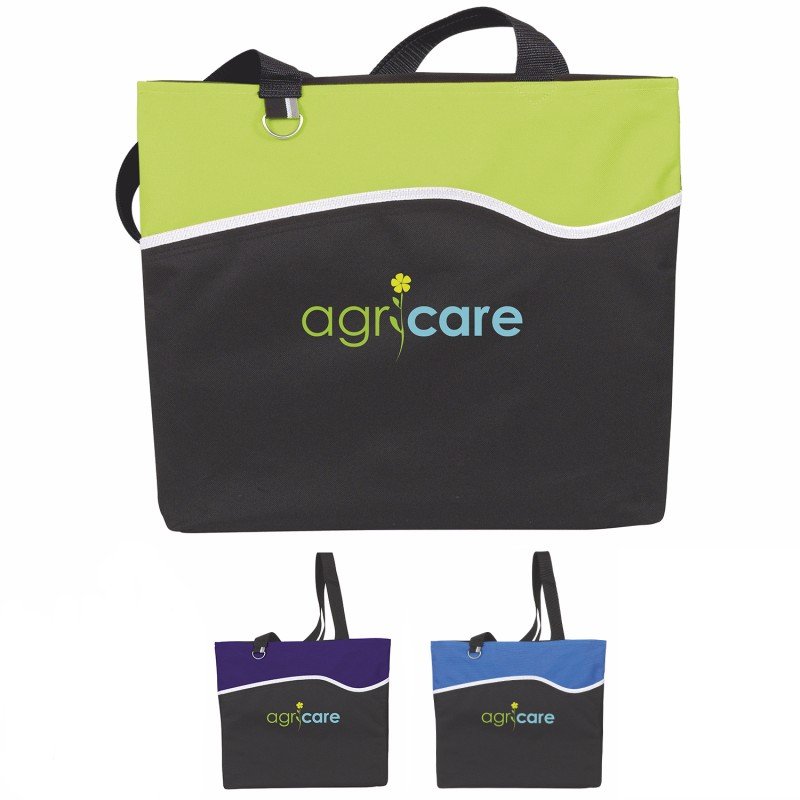 Atchison Wave Runner Tote Bag - 1 Colour Imprint