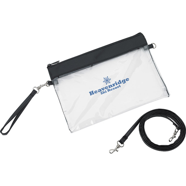 Clear Game 2-In-1 Wristlet Bag - 1 Colour Imprint