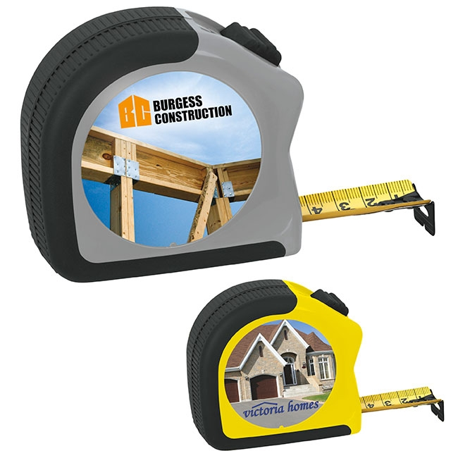 25' Gripper Tape Measure - Full Colour Imprint