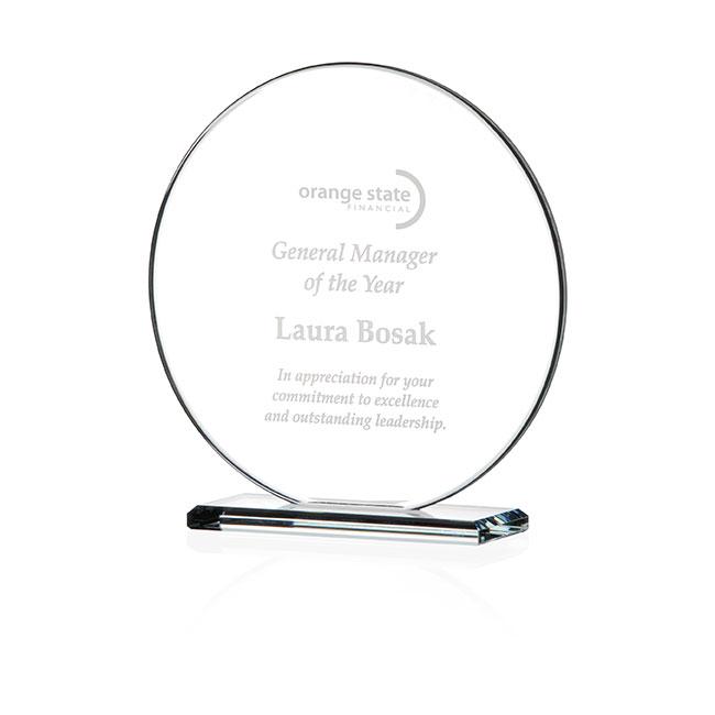 Jaffa Small Round Gem Cut Award - Deep Etch Imprint, #35225