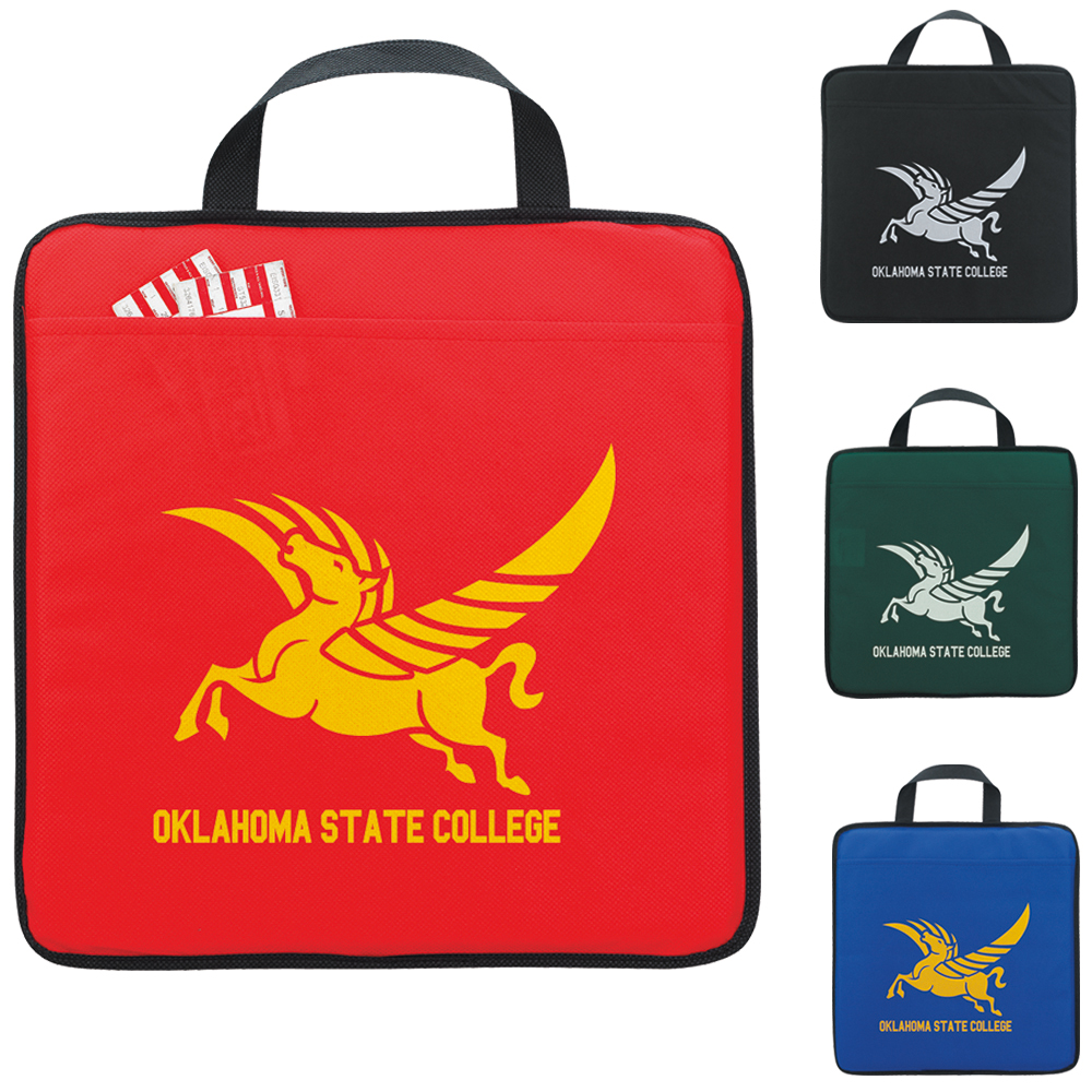 Non-Woven Stadium Cushion - 1 Colour Imprint, #15572
