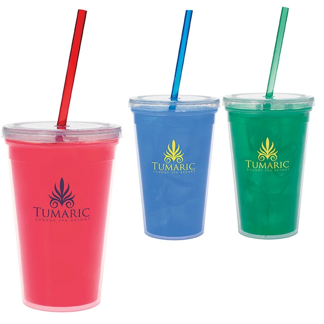 Double Wall Mood Tumbler (18 Oz.) - 1 Colour Imprint
