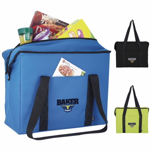 Koozie Large Grocery Tote Kooler - 1 Colour Imprint